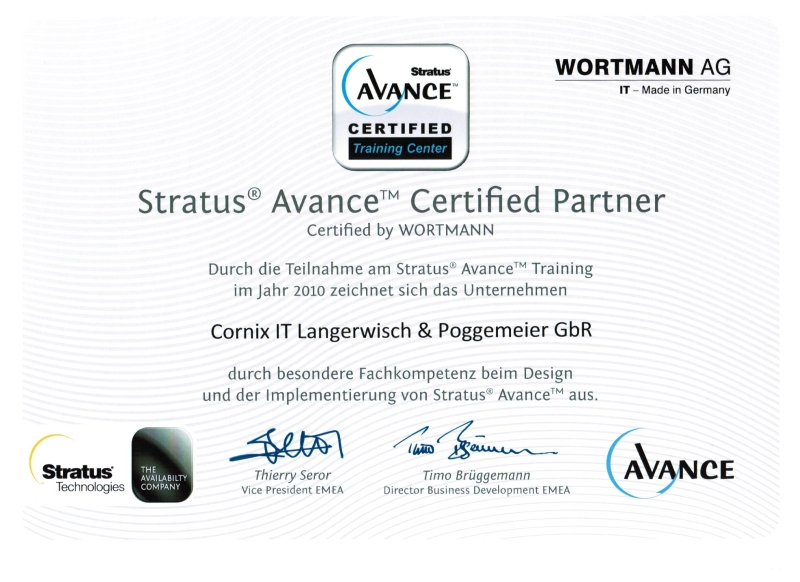 Stratus Advance Certified Partner